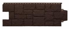 Фасадная панель GRAND LINE Крупный камень (Коричневый), 1,10м